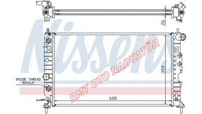 Opel Vectra B Otomatik 1600 1800 2000 Motor Su Radyatörü Model 1996 2002 Arası 1300160 1300180A