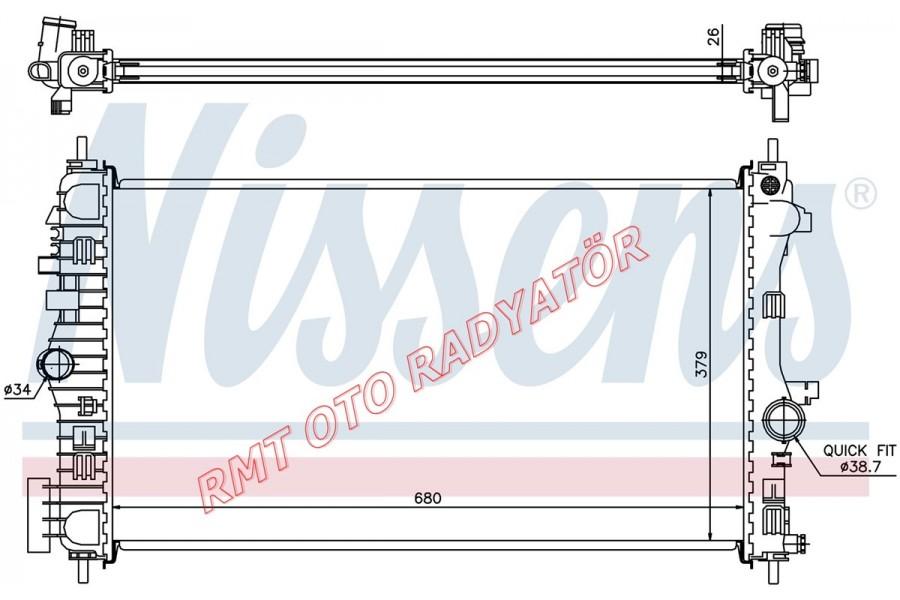 Saap 9-5 2.00 Td Manuel Motor Su Radyatörü 13241725