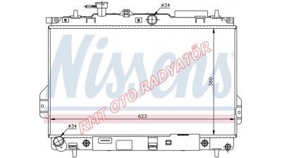 Hyundai Matrix Benzinli Otomatik Motor Su Radyatörü 2001 2006 Model Arası 25310-17100