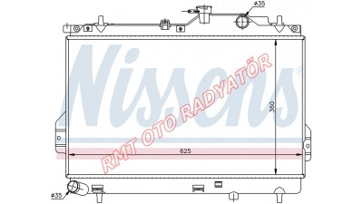 Hyundai Matrix Dizel Motor Su Radyatörü 2001 2006 Model Arası 25310-17800