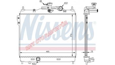 Hyundai Getz Dizel Motor Su Radyatörü 25310-1C300