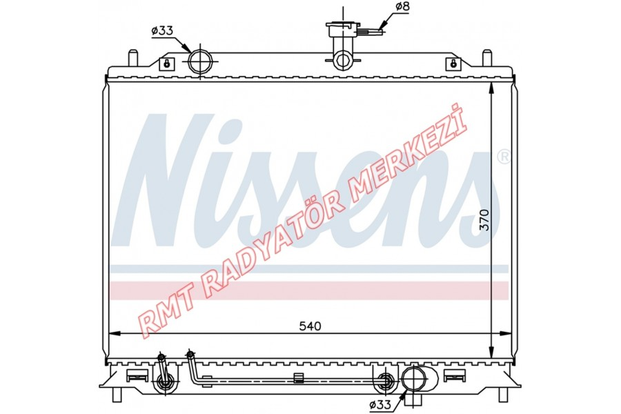 Hyundai Accent Era Dizel Otomatik Motor Su Radyatörü 25310-1E350