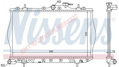 Hyundai Accent Benzinli Motor Su Radyatörü Yumurta Kasa 25310-22000