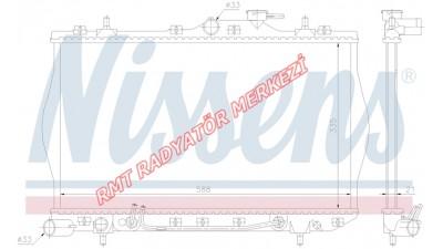 Hyundai Accent Benzinli Otomatik Motor Su Radyatörü Yumurta Kasa 25310-22050