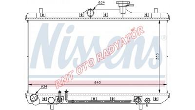 Hyundai Accent Admira Benzinli Otomatik Motor Su Radyatörü 25310-25100