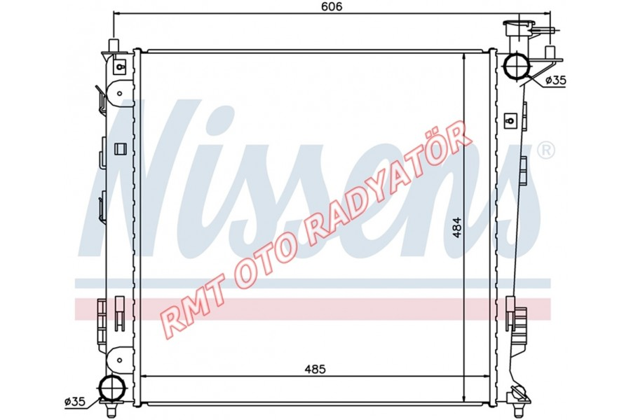 Hyundai İx35 2000 Dizel Manuel Motor Su Radyatörü 2010 2016 Model Arası 25310-2S000