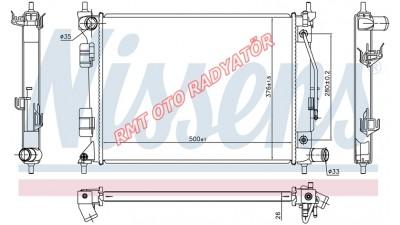 Hyundai i20 Benzinli Otomatik 14 Motor Su Radyatörü 2014 2015 2016 25310-C8050
