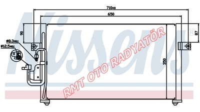 Hyundai Elantra Benzinli Motor Klima Radyatörü  1995 2000 Model  97606-29100