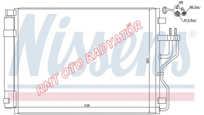 Hyundai İx35 Dizel Klima Radyatörü 2010 2016 Model Arası 97606-2S000