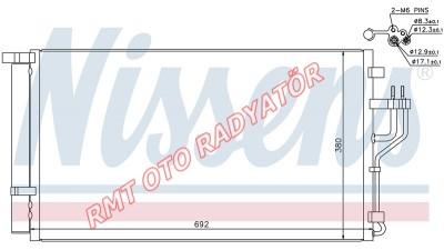 Hyundai İx35 1600 Benzinli Klima Radyatörü 2010 2016 Model Arası 97606-2Y500
